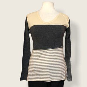 Poof Gray Striped Lacy Back Size M
